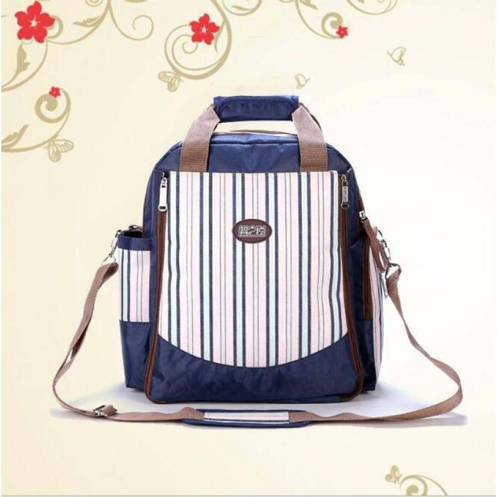 Girlhood Multifunctional large capacity Backpack Mother bag Diaper bag Blue