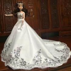 Cantik Berpayet Pernikahan Gaun Pengantin Gaun Putri Pesta Malam Gaun Perlengkapan Pakaian Boneka untuk 12