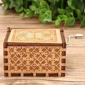 Hình ảnh Hand Crank Collectible Music Box Engraved Wooden Theme Toys Birthday Craft Gifts#Game Of Throne - intl