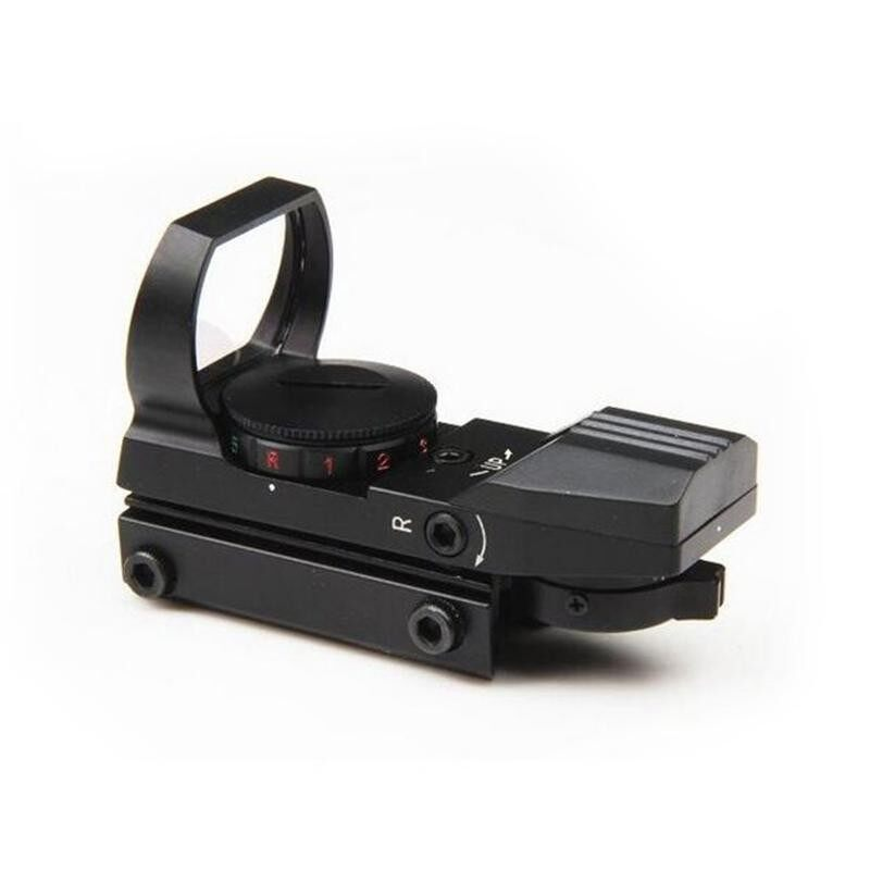 Hình ảnh Holographic 4 Reticle Red/Green Dot Reflex Sight Scope 20mm Adjustable - intl
