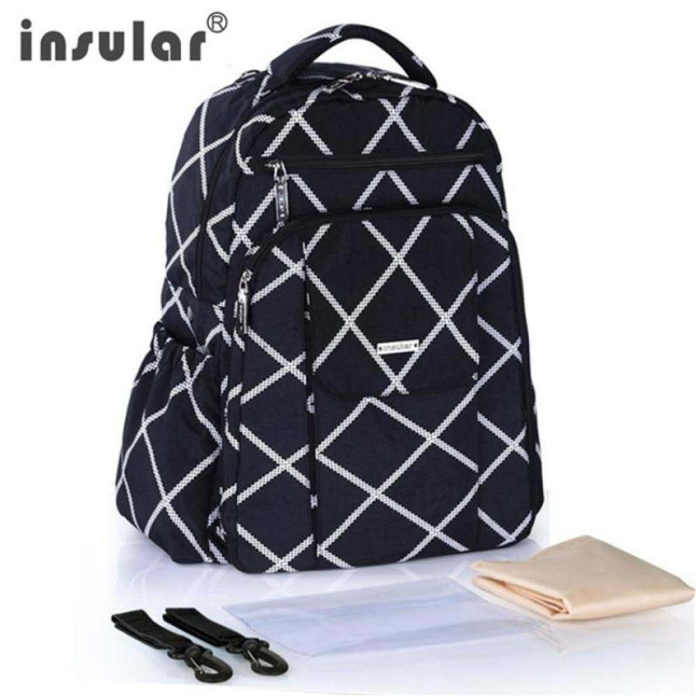 INSULAR Mother Bag Baby Nappy Bag Large Capacity Maternity Mummy Diaper Backpack with Thermal Insulation Diaper Stroller Bag