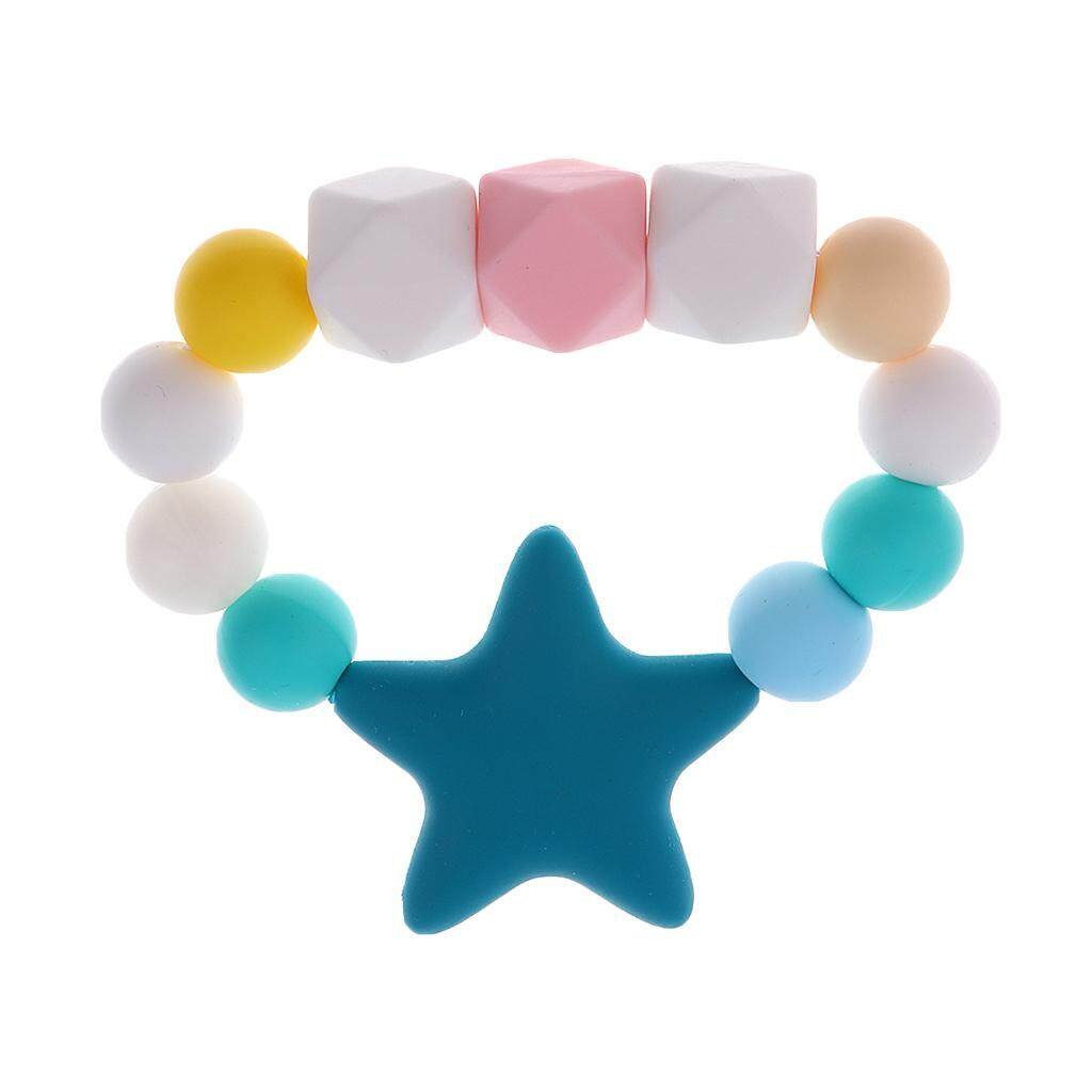 Magideal Toddlers Silicone Teething Chewable Bracelet Toy Teething Beads Chain - Intl By Magideal.