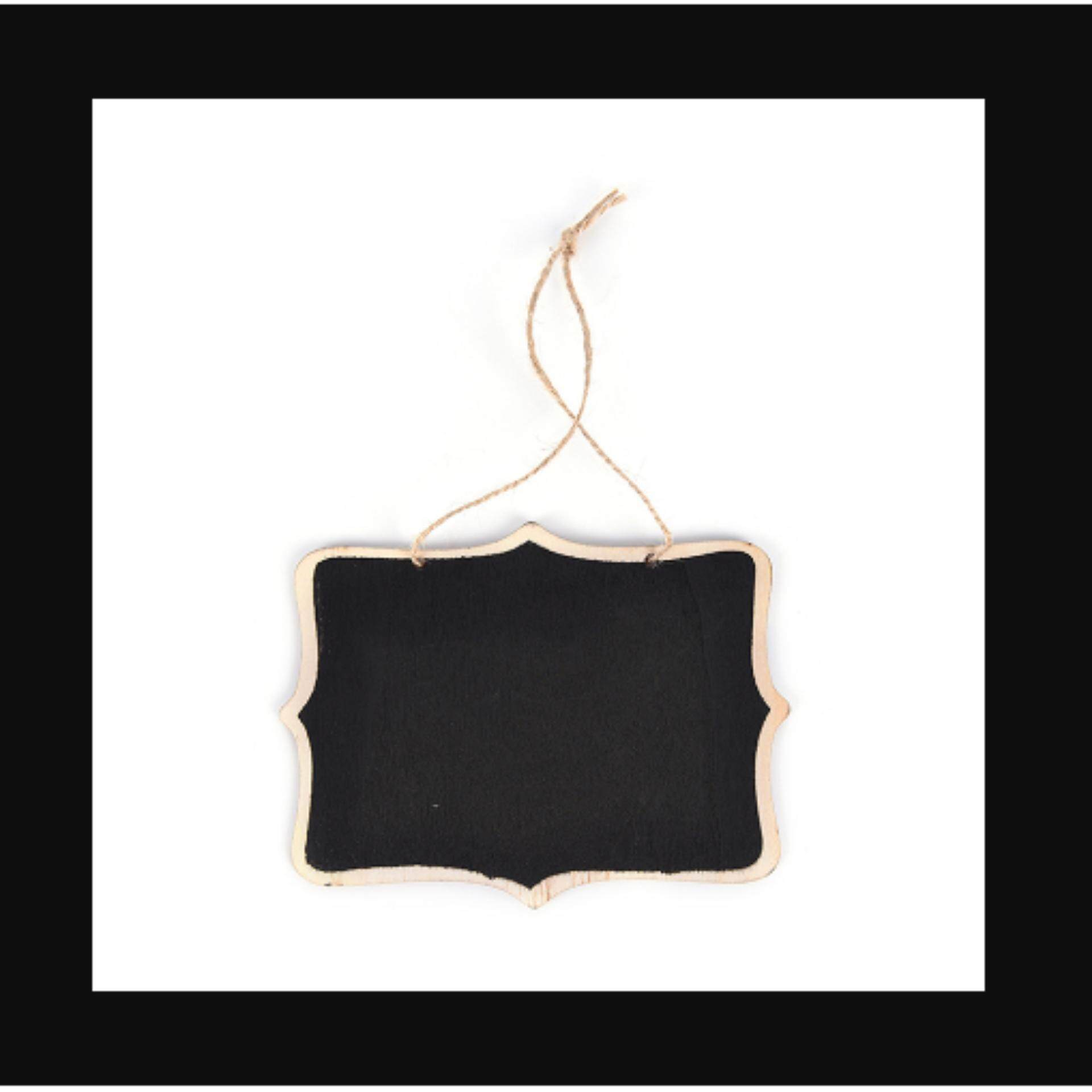 Mini Wooden Wedding Blackboard Chalkboard Hanging Message Number Party Decor - Intl By Crystal Wave.