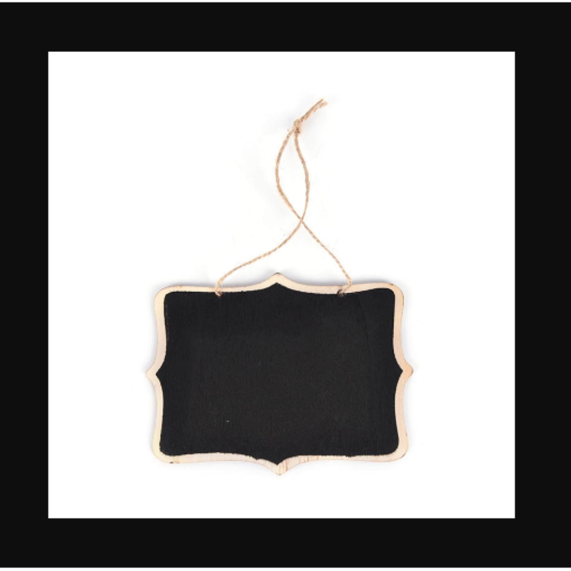 Mini Wooden Wedding Blackboard Chalkboard Hanging Message Number Party Decor - Intl By Crystal Wave.