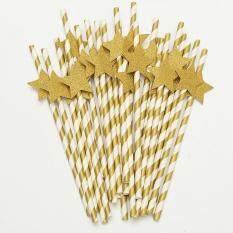Hình ảnh New 25Pcs Paper Juice Drinking Straws 3D Hens Party Wedding Birthday Xmas - intl