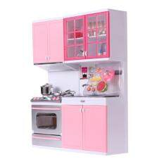 Hình ảnh Kid's Girl's Plastic Kitchenware Playing House Games Tools Kitchen Set (Pink)
