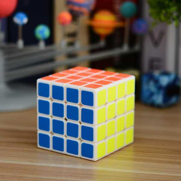 Hình thu nhỏ sản phẩm Star Mall Brain Teaser G4 Magic Cube Cube 4x4 White Speed Puzzle Competition Sticker Twisty