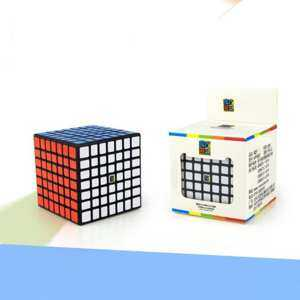 Hình thu nhỏ sản phẩm Professional 7x7 Stickerless Brain Teaser Twisty Puzzle Competition Magic Speed Cube Black - intl