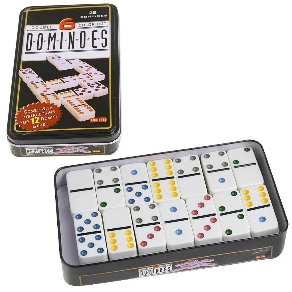 Wooden Domino Box Toy Game Set 28 Double 6 Travel Dominoes - Intl By Runrun123.