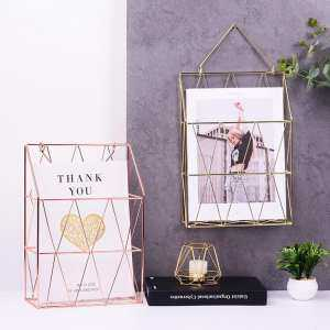 Hình thu nhỏ sản phẩm BuyBowie Metal Wall Hanging Storage Basket Net Iron Storage Holder Magazine Newspaper Storage Basket Organizer Storage Rack