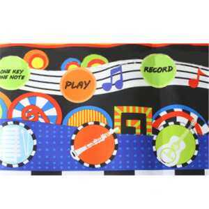 Hình thu nhỏ sản phẩm 110 * 36 cm Cartoon Animals Piano Blanket Toy Fantastic Piano Keyboard Music Blanket Kids Learn Singing Educational Toys