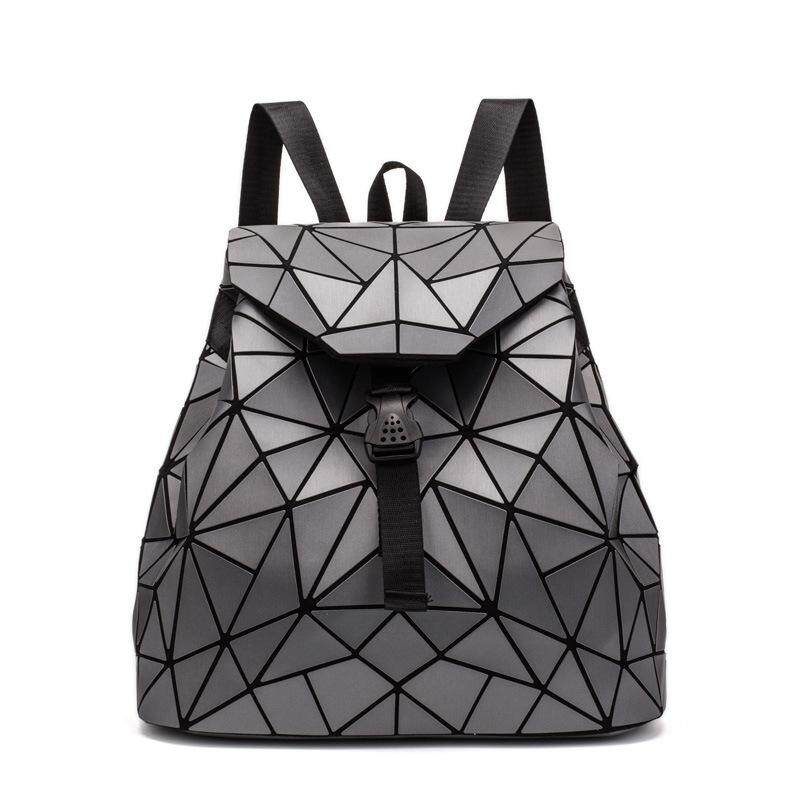 2018 New Style Geometric Shoulders Backpack Ms. Quilted Bags Backpack Folding Students Panel Fashion Shoulders
