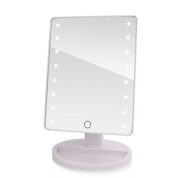 360 Degree Rotation Touch Screen Makeup Mirror Makeup Tool Vanity Table  Mirror With 16 LED Lights   Intl Philippines