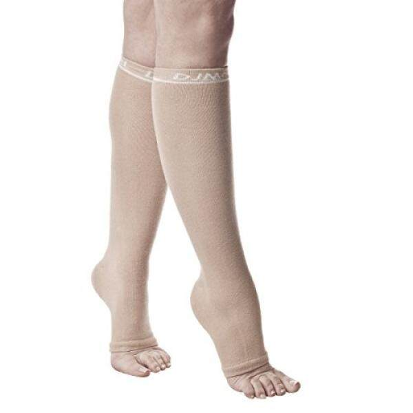 DJMed Leg Skin Protectors – Protective Leg Sleeves, For Sensitive Skin, Help Protect From Tears & Bruising – Pair, Tan - intl