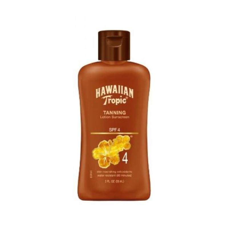 Buy Hawiian Tropic Dark Tanning Lotion SPF4 Travel Size, 2-Fluid Ounce (Pack of 4) - intl Singapore