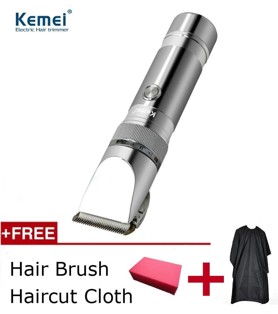 Kemei Professional Ceramic Cutter Electric Hair Trimmer Clipper Rechargeable Shaver Razor Cordless Adjustable Clipper By La Chilly.