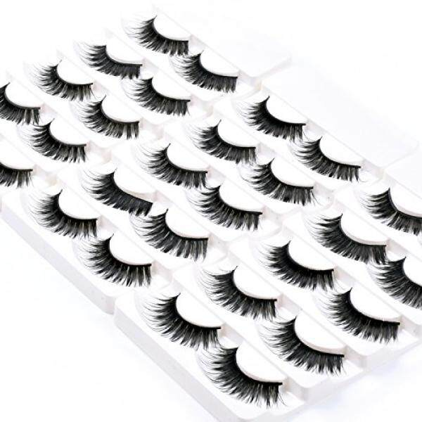 Wleec Beauty Fake Eyelashes Long Thick False Eyelashes Set #57 (15 Pairs/3 Pack) - intl Philippines