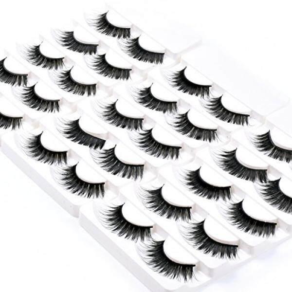Wleec Beauty Fake Eyelashes Long Thick False Eyelashes Set #57 (15 Pairs/3 Pack) - intl Philippines