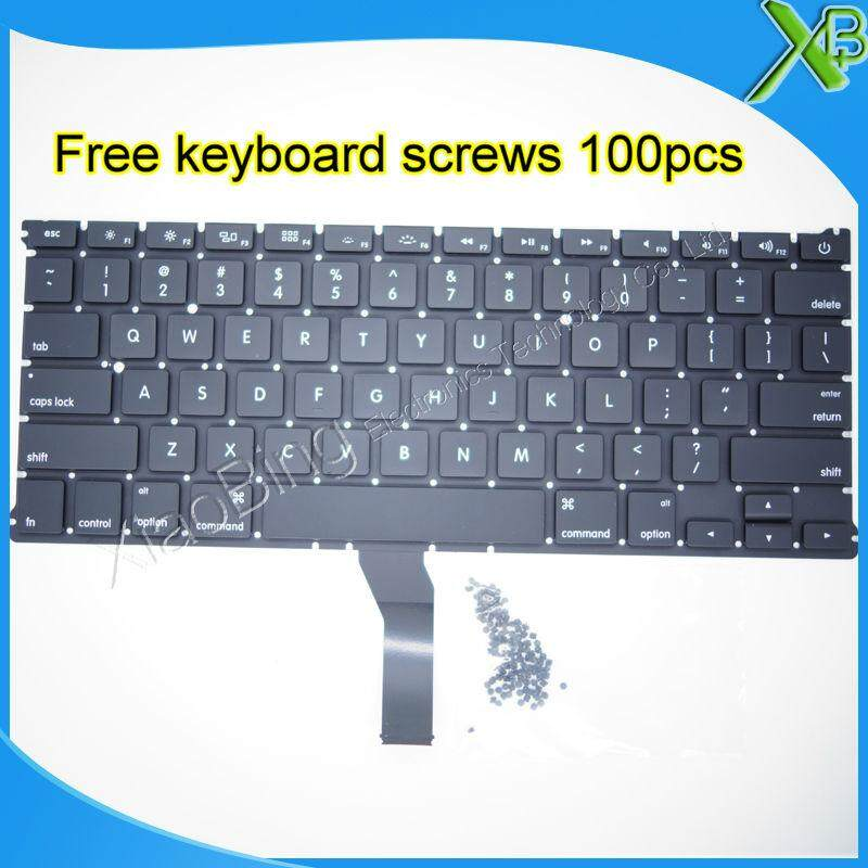 Brand New For Macbook Air 13.3 A1369 A1466 Us Keyboard+100pcs Keyboard Screws 2010-2015 Years