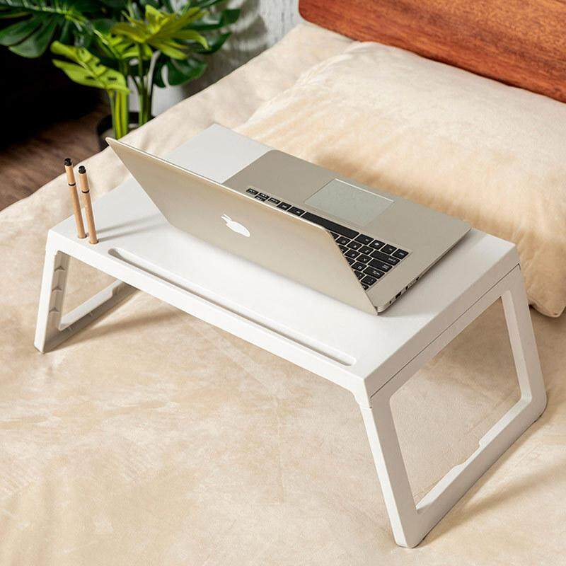 Bed Small Table Portable Folding Dormitory Desk Bed Lazy Table Mobile Notebook Table