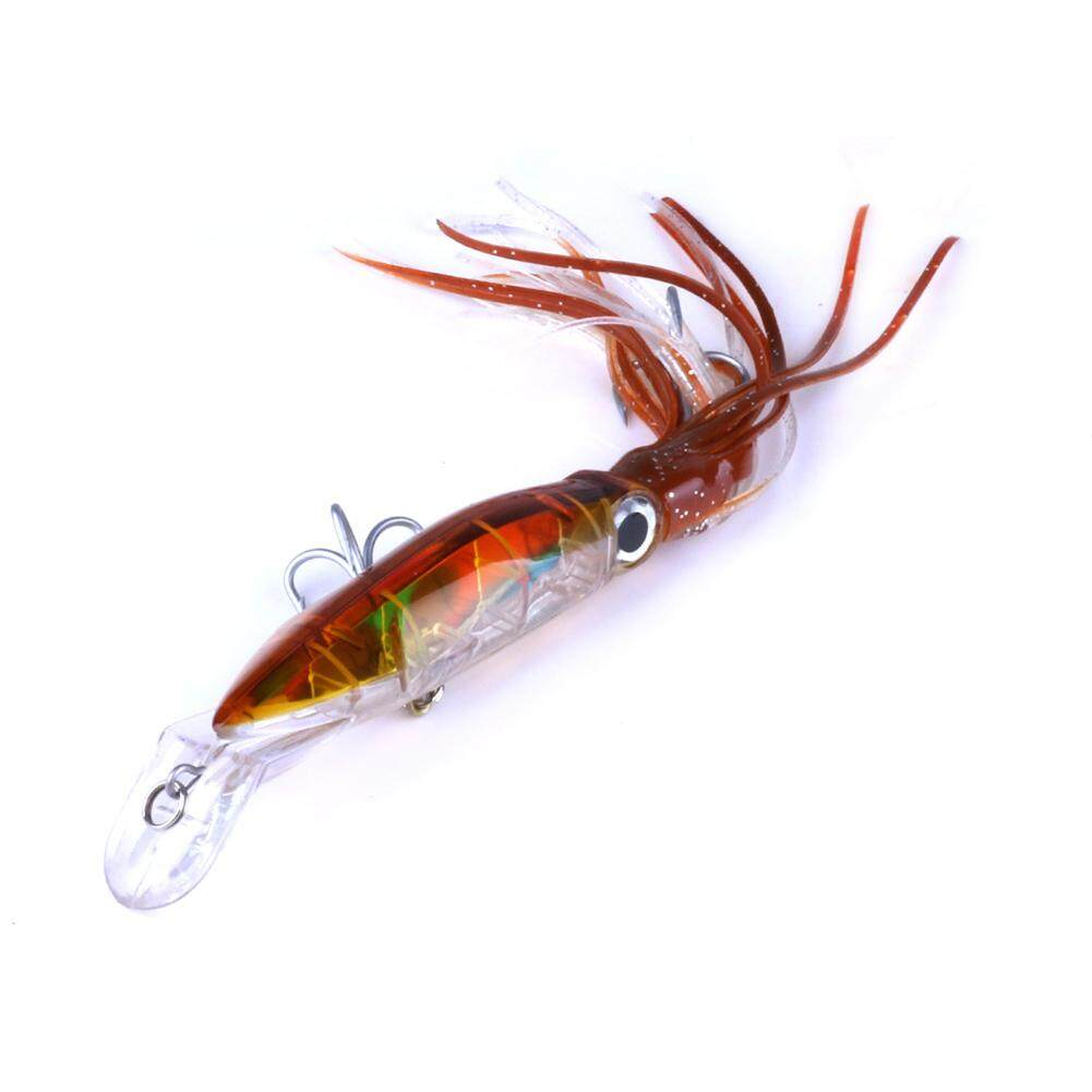 Qimiao 14cm Plastic Squid Tape Crankbait With Tassel Fishing Lures Tackle Fishing Bait Specification:6  - Intl By Qimiao Store.