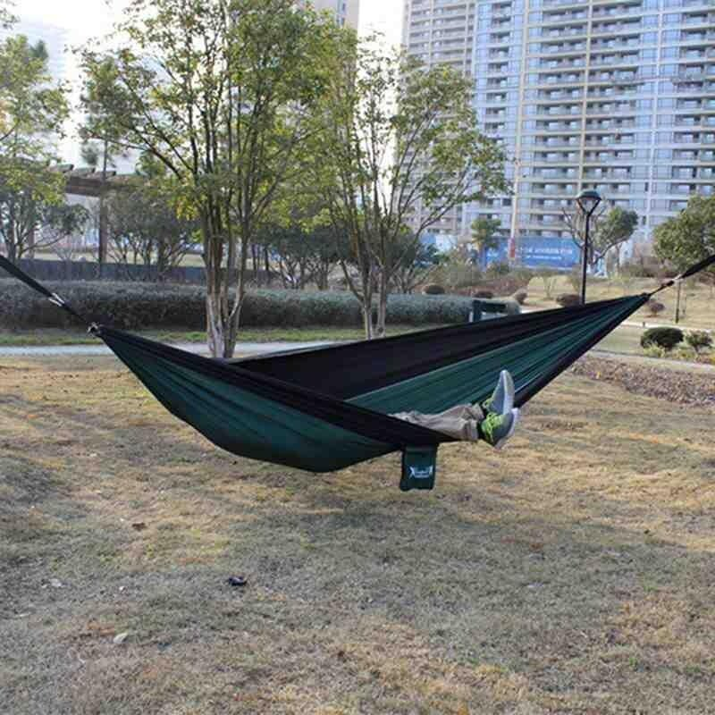 2 Pcs Outdoor Camping Hammock Hanging Nylon Rope Strap With Metal Buckle Hook - Intl By Stay.