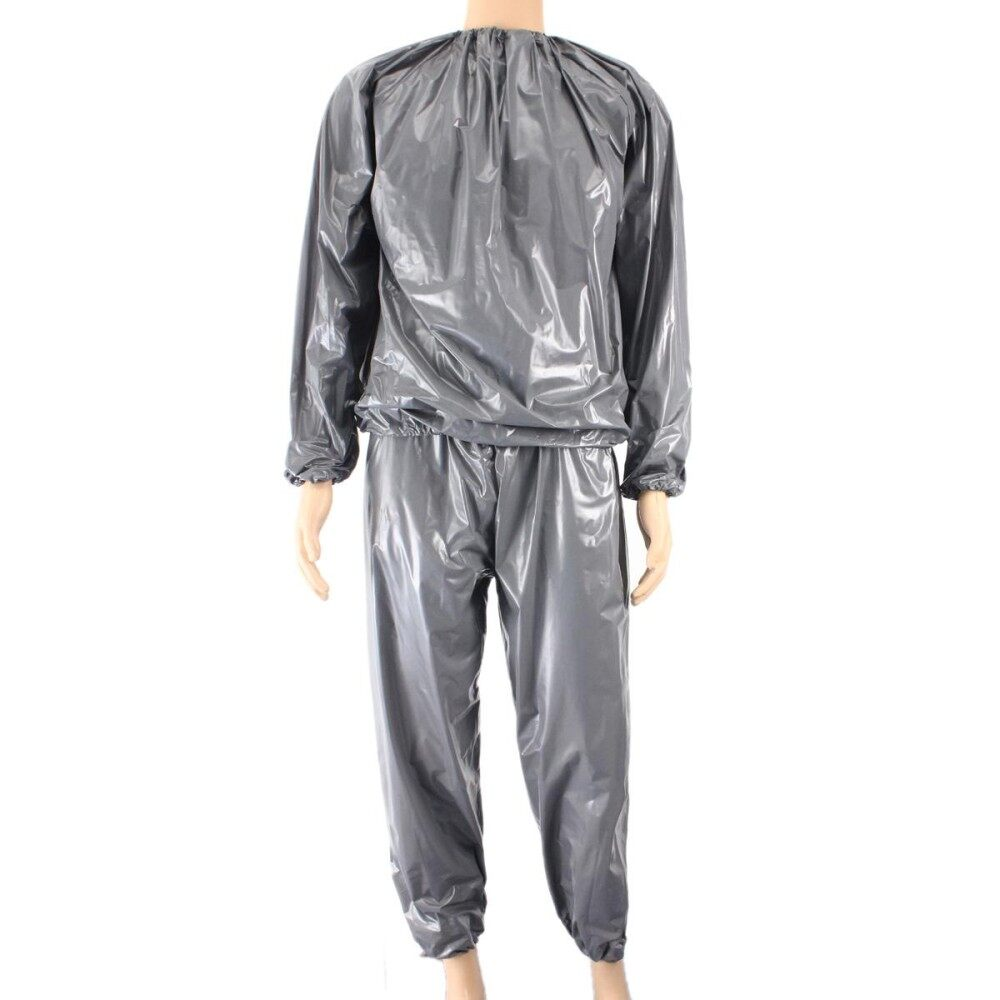 2set Fitness Loss Weight Sweat Suit Sauna Suit Exercise Gym Size Xl Grey - Intl By Freebang.