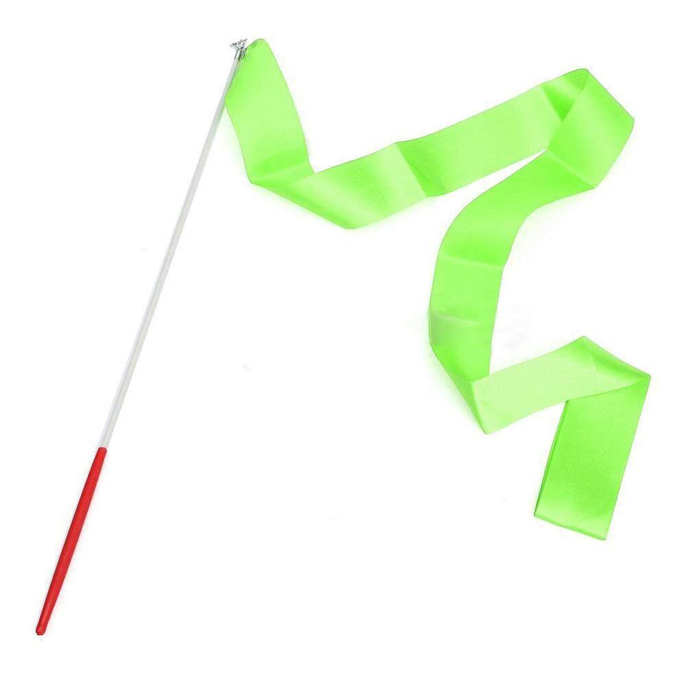 Coromose 4 เมตรเด็ก Art ริบบิ้นยิมนาสติก Streamer ริบบิ้นยิมนาสติก Stick สำหรับยิมเต้นรำยิมนาสติกบัลเลต์ข้อมูลจำเพาะ: 4 เมตร: สีเขียว Lucky - G - Intl.
