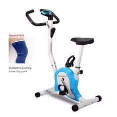 Combo Set EcoSport Lightweight Exercise Fitness Zero Bike Bicycle (Blue) and EcoSport Cycling Knee