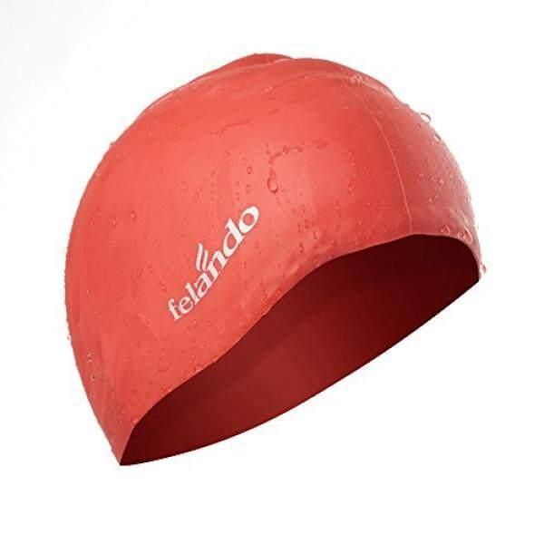 Felando Panjang Rambut Merah Berenang Tutup Rambut Tebal, Rambut Keriting, Rambut Gimbal, telinga Bungkus Berenang Topi Menjaga Kering Rambut Besar Silikon Berenang Tutup untuk Wanita Pria Wanita dan Anak Dewasa Olahraga- internasional