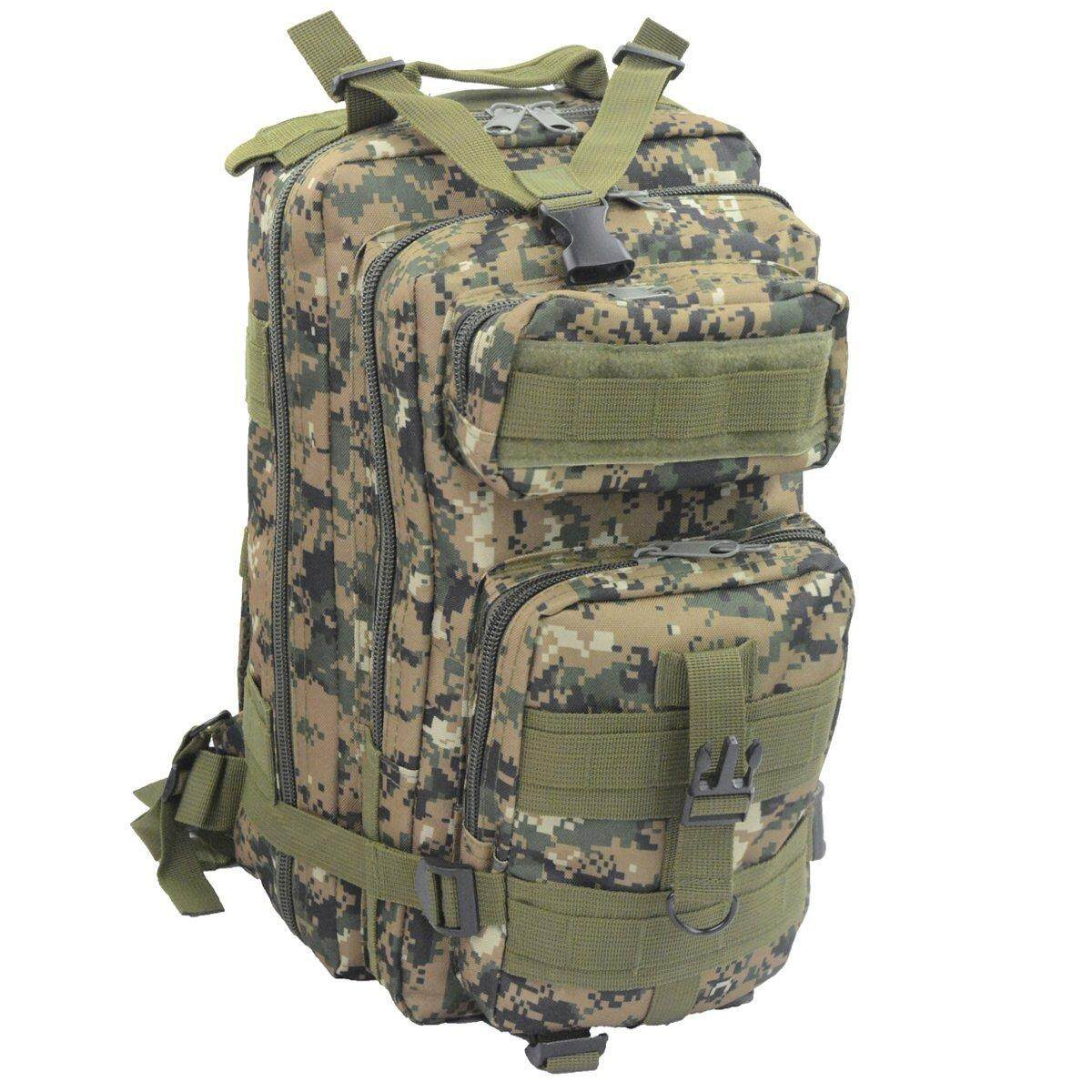 Kobwa Outdoor Camping Hiking 25l 3p Tactical Backpack (digital Camouflage) - Intl By Kobwa Direct.
