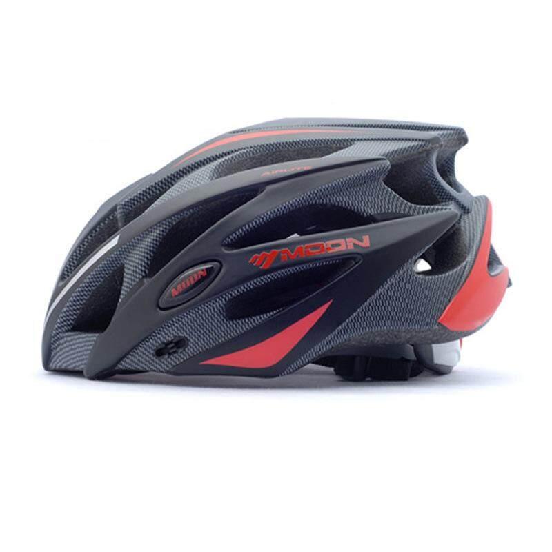 Coromose Bulan Adult Sport Ware Highway Helm Sepeda Gunung Jalan Bersepeda Helm L Warna: Hitam dan Merah-Internasional