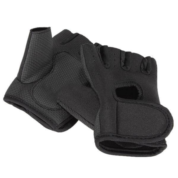 New Sport Cycling Fitness Gym Half Finger Gloves Weightlifting Exercise Training - Black L (intl) - Intl By Greatbuy666.