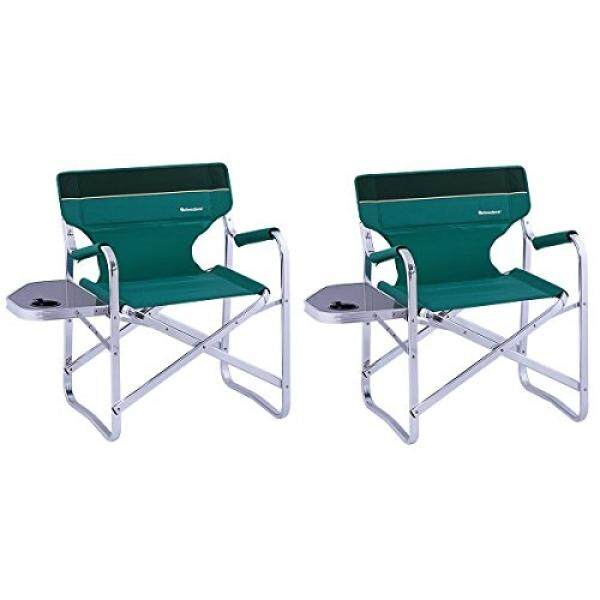 OnwaySports 2 Pack Aluminum Frame Director Chair with Side Table Lightweight Foldable Portable for Camping in