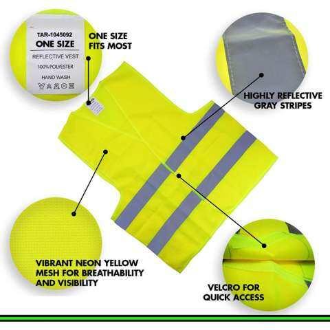 Rompi Reflektif Keselamatan (Ultra Visibilitas Tinggi Neon Terang Kuning) SEMPURNA UNTUK Berlari, Jogging