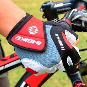 Hình thu nhỏ sản phẩm SunnyShop5MM Gel Palm Pad Shock Resistant Bicycle Cycling Gloves Unisex Half Finger Gloves for Mountain Racing Bike - intl