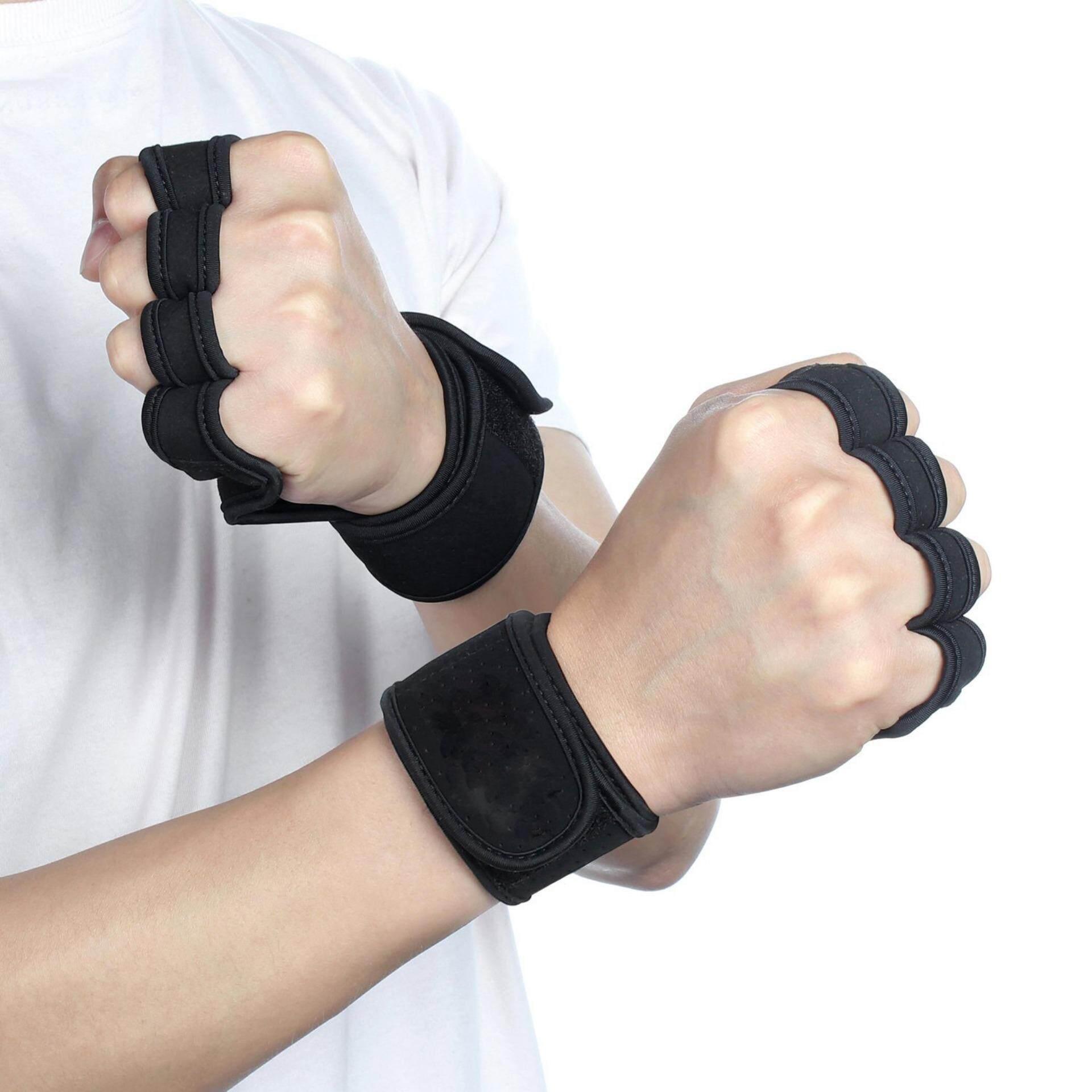 Training Gloves Support Sport Workout Exercise Lifting Half Finger Gloves - intl