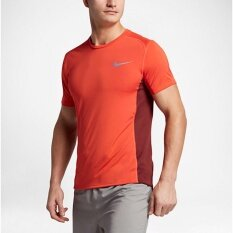 Nike Men's Dry Miler Running Top (Orange)