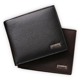 100% Genuine Leather Mens Wallet Premium Product Real CowhideWallets for Man Short Black Walet Portefeuille
