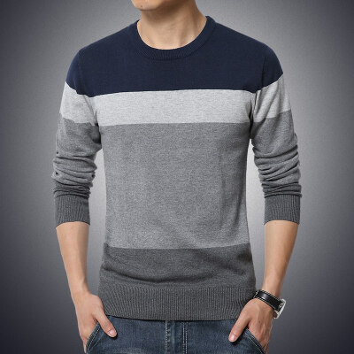 2018 Good Quality Fashion Brand Casual Sweater O-Neck Striped Slim Fit Knitting Mens Sweaters And Pullovers Men Pullover Men M-5xl - Intl By Buluolandi.