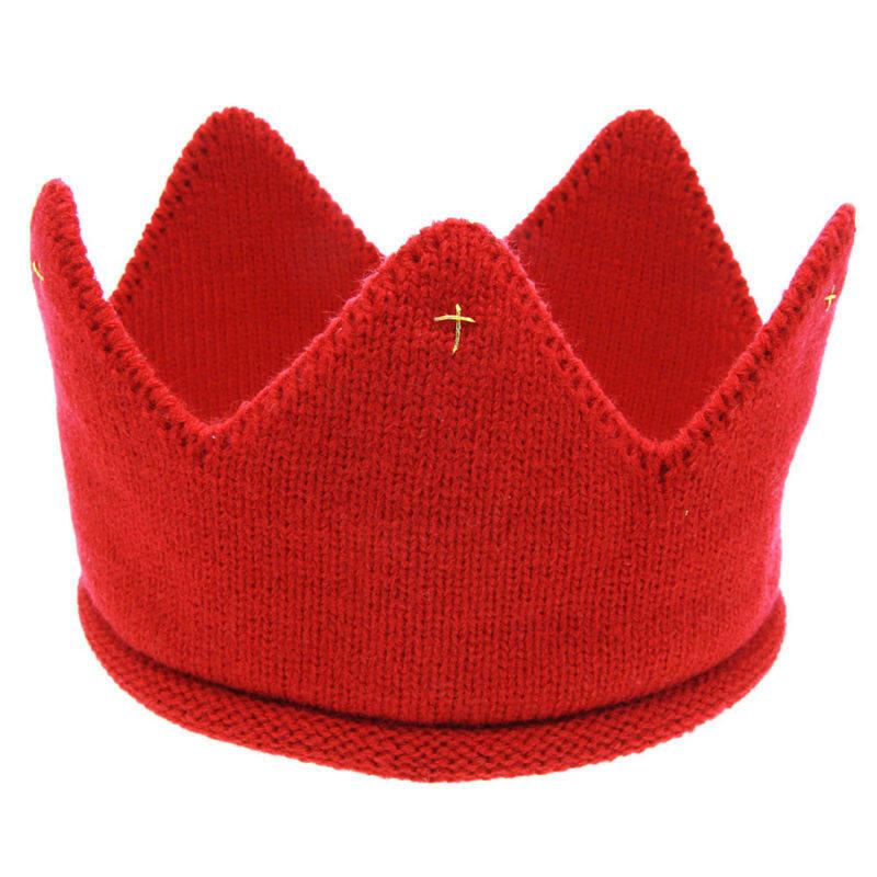 2017 Jual Panas Baru Modis 5 Warna Bayi Topi Muqdew Anak-anak Tutup Baru Lucu Bayi Laki-laki Perempuan Mahkota Rajut Ikat Kepala topi Cepat Pengiriman-Internasional