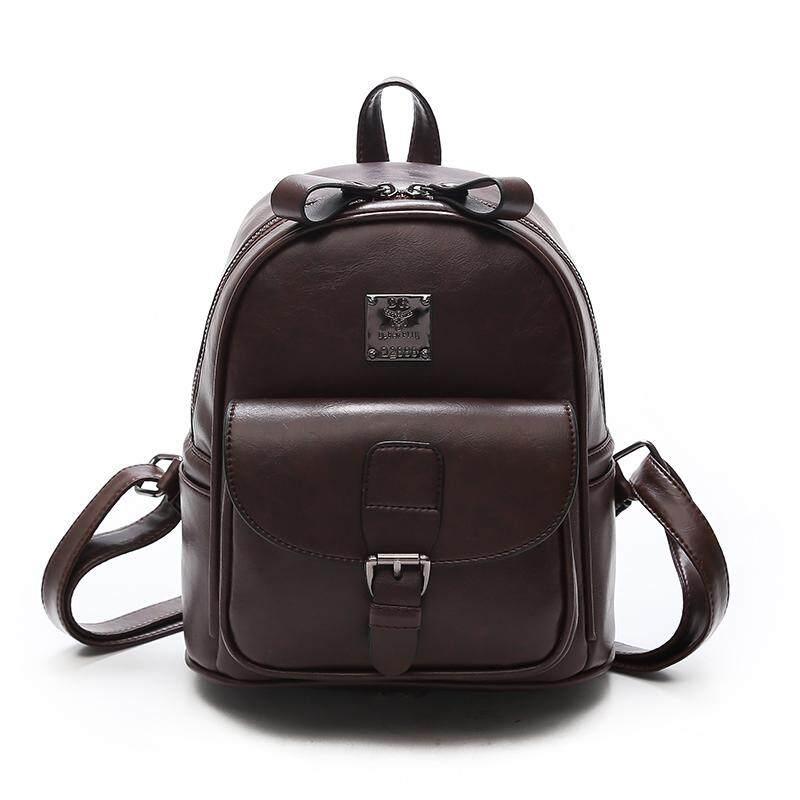 57998d1924 2017 NEW leather Women Backpack For Teenage Girls vintage feminine Women  Backpacks Youth Shoulder Bag High