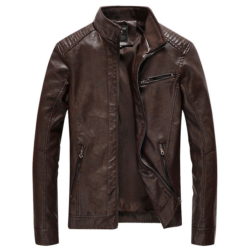 2018 Men Spring Leather Jacket Fashion Design Men Pu Leahter Jackets Streetwear Mens Bomber Jacket High Quality Male Leahter Coats - Intl By Buluolandi.
