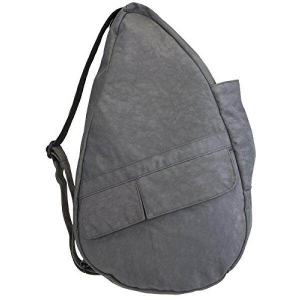 53de1999979a AmeriBag Small Distressed Nylon Healthy Back Bag (Light Grey)