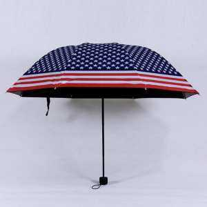 Hình thu nhỏ sản phẩm Anti UV Sun Protection Umbrella Sky 3 Folding Parasols Rain Umbrella