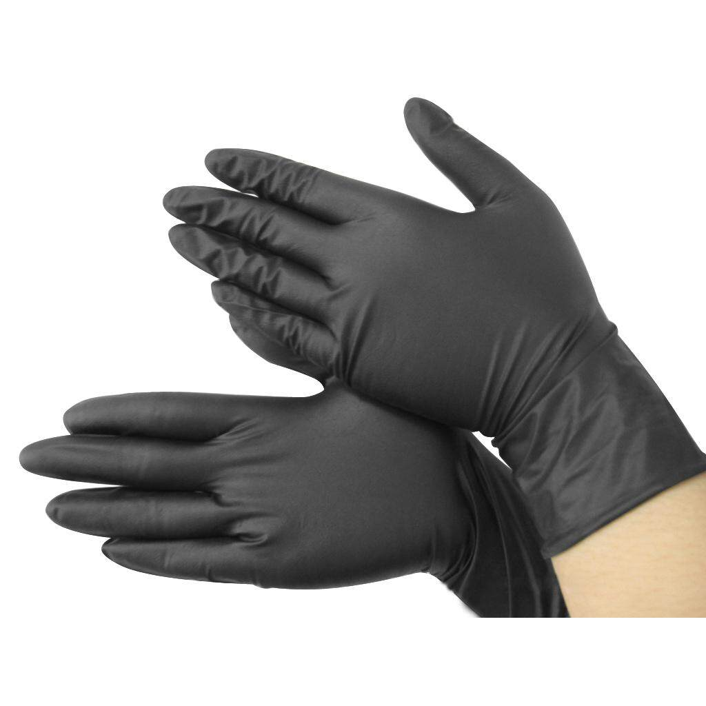 Hitam Nitril Disposable Sarung Tangan Sejuk Daya Bebas X100-Tato-Mechanic Baru-Internasional