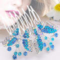 Hình ảnh BolehDeals Butterfly Rhinestone Party Wedding Bride Prom Decorative Hair Comb Pin Clips - intl