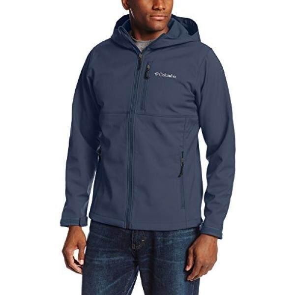 Columbia Pria Besar dan Tinggi Ascender Bertudung Jaket Softshell, Gelap Gunung, 4X-Internasional