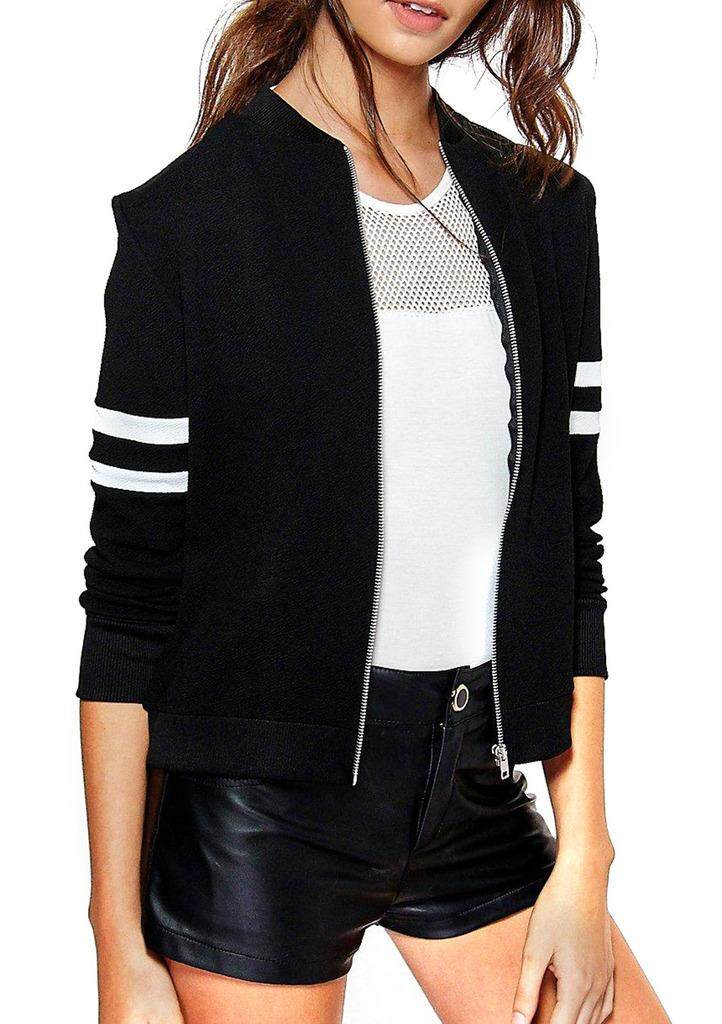 Comvip Women Slim Fit Zipper Baseball Bomber Jacket Coat Outwear - Intl By Yingfen Internaional.