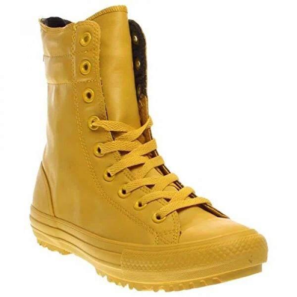 Converse Wanita Cengkraman Taylor Semua Bintang Hai-RISE Boot Karet, Kuning/Kuning, 8 Kami-Internasional